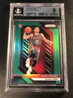 TRAE YOUNG 2018 PANINI PRIZM #78 GREEN CHROME REFRACTOR ROOKIE RC BGS 9