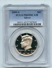 1999 S 50C Silver Kennedy Half Dollar PCGS PR69DCAM
