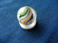 Victorian German latticinio swirl solid core  Double Pontil  Marble 1.6 cm size