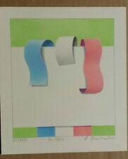 WILHELM BEUERMANN Unikat Originalbuntstiftzeichnung handsigniert 1973 Tri Colore