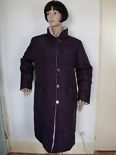Doudoune femme, violette ou rose réversible, taille 44,  occasion