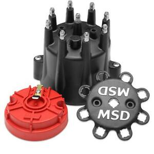 MSD 84336 Replacement HEI Distributor Cap and Rotor, Black