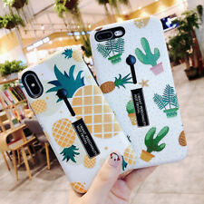 Fruits Pattern Ring Stand Holder Hybrid Hard Case Cover For iPhone XS Max 8 6s 7