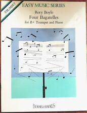 Rory Boyle: Four Bagatelles (Bb Trumpet/Cornet/Piano) Sheet Music Book