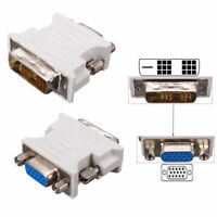 DVI-D (18+1Pin ) Dual Link Male to VGA 15 Pin Female Plug Adapter for PC Laptop