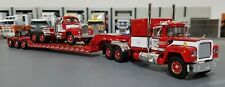1/64 RED MACK R-MODEL & B-MODEL & HEAVY HAUL TRAILER DIECAST MADE BY FIRST GEAR
