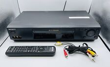 SONY SLV-N77 VHS VCR Hi Fi Cassette Player with Remote & Cables - Good Condition
