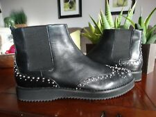 MICHAEL KORS Sofie Studded Leather Chelsea Boots 9