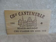 CHATEAU CANTEMERLE HAUT MEDOC WINE PANEL END