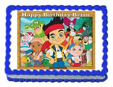 JAKE AND THE NEVERLAND PIRATES party edible cake decoration image frosting sheet