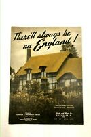Vintage Sheet Music 1939 There'll always be an England! Pre-WW2 Ross Parker