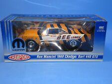 Mopar Champions Ron Mancini 1968 Dodge Dart 440 GTS 68 Mopar Detroit Bee 1:18