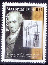 Maldives MNH, Millennium, 1769, James Watt Invents Steam Engine, History -A107