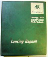 Lansing Bagnall Model FOER9 Range Forklift Dealer Service and Operators Manual