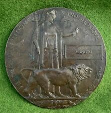 More details for ww1 death plaque for an indian soldier - named to