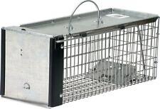 Animal Cage Trap Chipmunk Squirrel Rat Weasel Gravity Action Steel Mesh Door