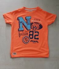 Next Boy Neon Orange Graphic Disign T-Shirt Age 4