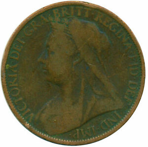 1900 ONE PENNY OF QUEEN VICTORIA    #WT14322