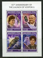 MALDIVES 2018 55th ANN OF THE LAUNCH OF VOSTOK 6  SHEET  MINT NEVER HINGED