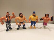 "Vintage 1990 WWF WWE Wrestling Rare 4.5"" Action Figures Hasbro Titan"