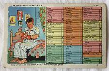 "Vintage Used Time Saver Postcard Too ""Darn"" Busy Military Free Postage 1944"