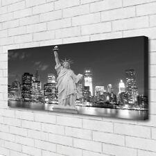 Leinwand-Bilder Wandbild Canvas Kunstdruck 125x50 Freiheitsstatue New York