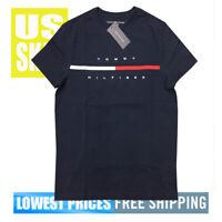 Tommy Men's NWT 100% Cotton Stripe Chest COR DARK NAVY T-Shirt XS Free Ship