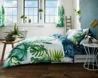 Tropical Leaf  Luxury Duvet Covers Quilt Cover Reversible Bedding Sets Curtains