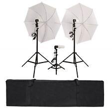PhotoStudio Set Dual Lightning Kit Beleuchtungsset Softbox 3x38W 5400K 2 Schirme
