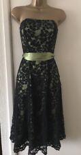 Debenhams Debut 8 Green & Black Lace Dress Wedding Races Cruise 8