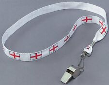 12 x Metal Whistle On St George Cross Cord Fancy Dress Accessory P10308