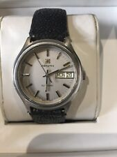 ZENITH XL TRONIC DAY DATE WATCH FULL SET WITH DEPLOYMENT BUCKLE