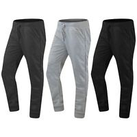 NEW Men Quilted Fleece Joggers Stretchy Elastic Waist Drawstrings Sizes S-2XL