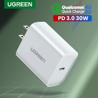 Ugreen US / EU Plug USB Type C Wall Charger QC3.0 30W PD Charger USB C Adapter