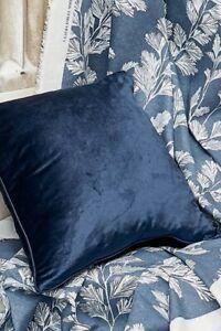 Laura Ashley Nigella midnight blue velvet 50cm square cushions BNWT