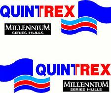 Quintrex Millennium Series Hulls , 4 Col, Boat Mirrored Sticker Decal Set of 2