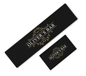 Personalised Any Text Beer Mat Label Bar Runner Ideal Home Pub Cafe Occasion 21