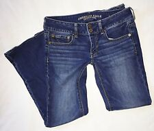 American Eagle 6 Short ARTIST STRETCH Dark Rinse Low Rise Bootcut Jeans