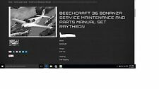 Beechcraft 36 bonanza service maintenance parts library + engine O/H