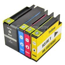 4 cartuchos para HP Officejet 6700 Premium 6100 e-impresora 6600e 932xl 933xl