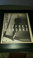 Jeffrey Osborne She's On The Left Rare Original Radio Promo Poster Ad Framed!