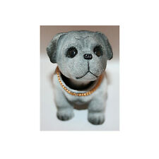 Grey Bobbing Shaking Head Nodding Bulldog Dog Decoration for Car