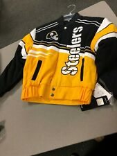 Pittsburgh Steelers Youth /boys  Twill Jacket  MTC BRAND   JACKET BLACK/YELLOW
