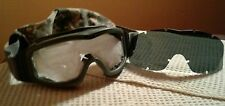 MILITARY ESS GOGGLE'S FOLIAGE GREEN WITH DARK OR CLEAR LENS. SAND, WIND, DUST.