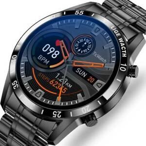 Bluetooth Smartwatch Luxus Herren Armband Herzfrequenz Pulsuhr Blutdruck Fitness