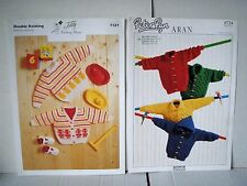 Peter Pan & Teddy knitting patterns for babies cardigans and jumpers