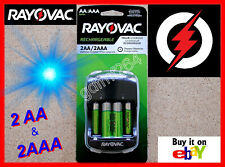 Rayovac AA AAA Rechargeable NiMH 1350mAh 600mAh Battery Batteries with Charger