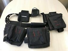Husky Nylon Black Red Tool Belt