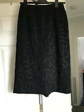 WOMENS BLACK SKIRT JACQUES VERT SIZE 10 STUNNING IDEAL WEDDING OR OCCASION