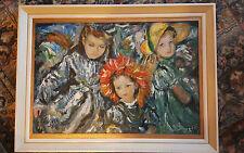 Superbe Impressionniste Acrylique Planche - Style Peinture de Enfants